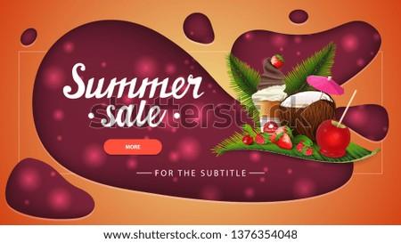summer sale  orange discount