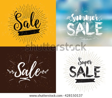 spring and summer sale signs download free vector art stock