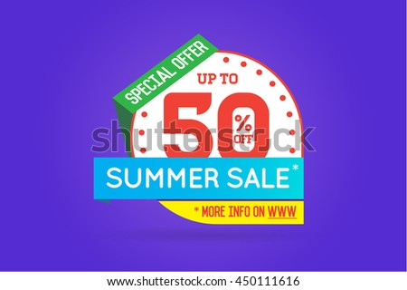 cb22b86a66a05d Summer Sale Sign Banner Poster ready for Web and Print. Vector. Super