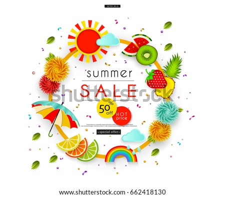 summer sale stylized