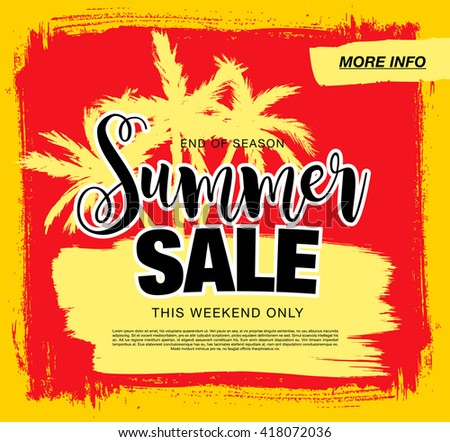 summer sale template banner #418072036