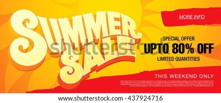 Summer sale template banner #437924716