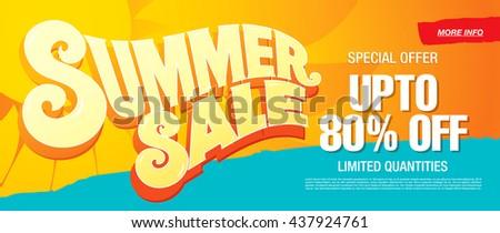 Summer sale template banner #437924761