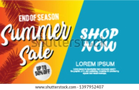summer sale template banner.  Sale and Discounts Concept. Vector illustration. eps 10 format #1397952407