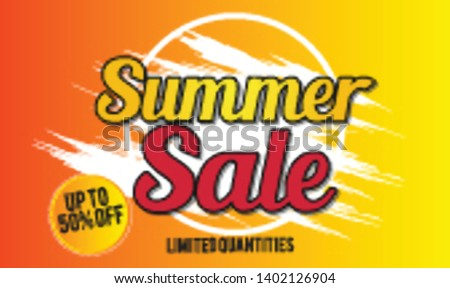 summer sale template banner.  Sale and Discounts Concept. Vector illustration. eps 10 format #1402126904