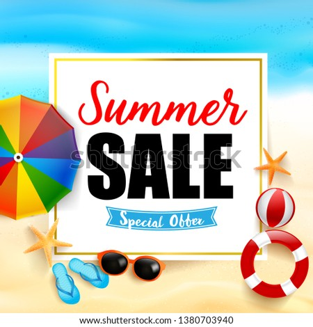 summer sale titile on white