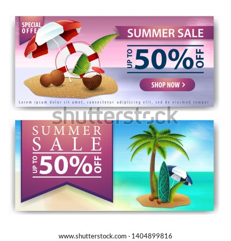 summer sale  two horizontal