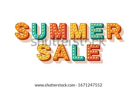 summer sale vector typography