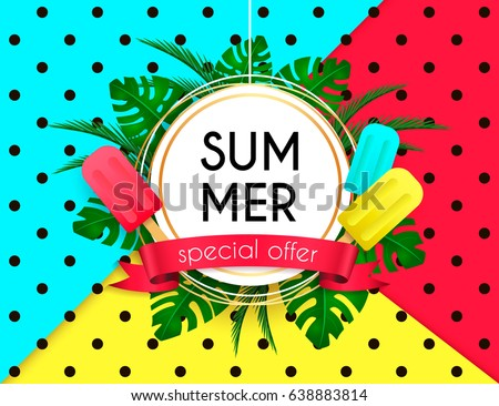 Summer Vector Background Surf Frame