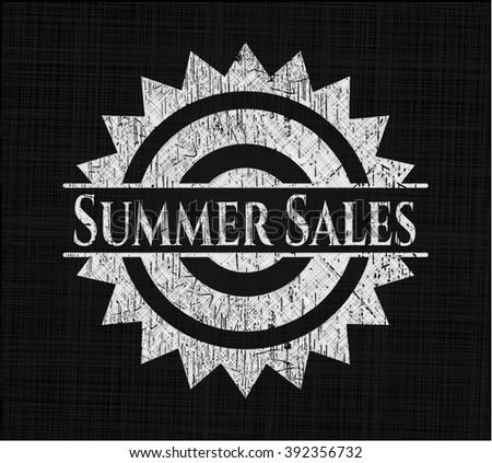 Summer Sales chalk emblem