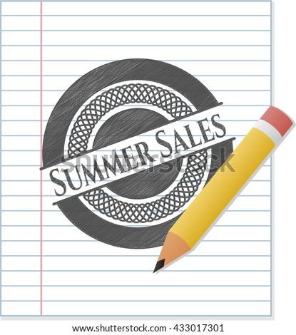 Summer Sales pencil draw