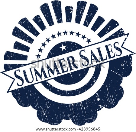 Summer Sales rubber grunge texture stamp