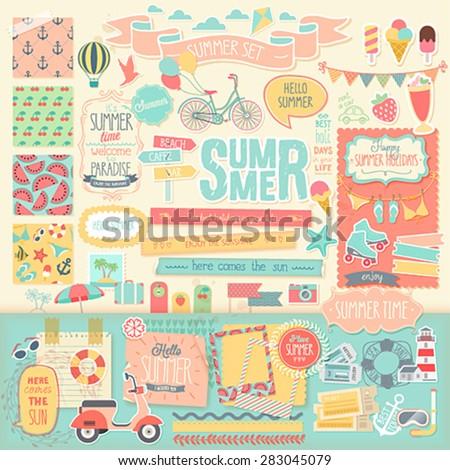 summer scrapbook set