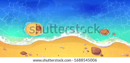 summer sea beach top view