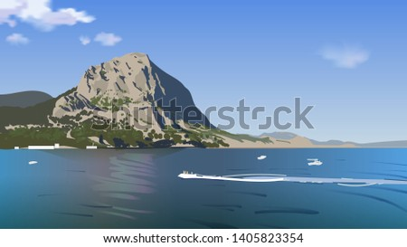 summer sea sunny landscape with