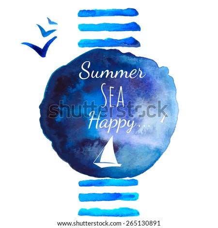 summer sea watercolor
