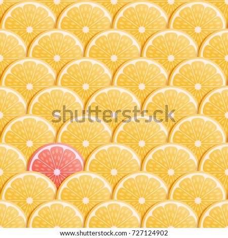 Summer seamless background with orange fruit. Vector illustration.