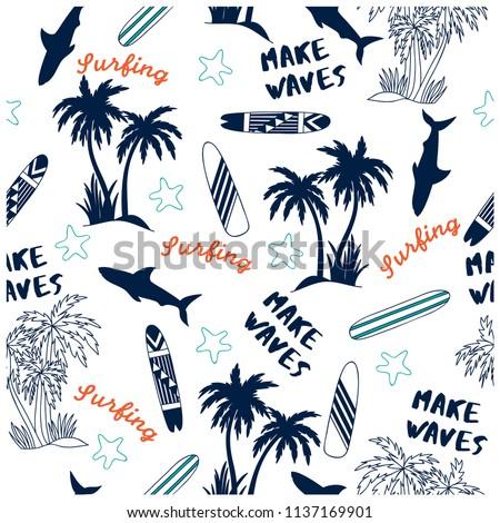 summer seamless pattern design