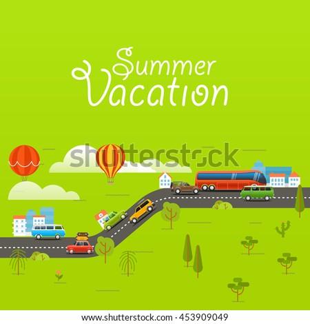 summer season vector concept
