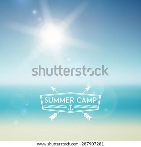 summer sky background  beach