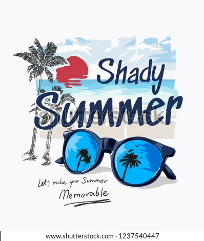 summer slogan with palm beach