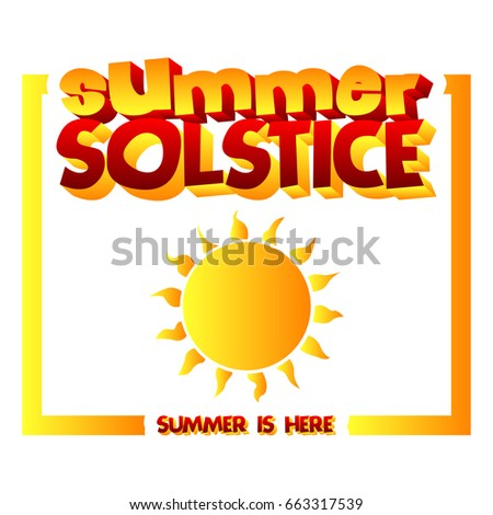 summer solstice card with a