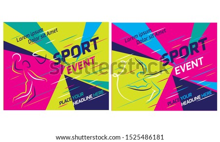 Summer sports icon set  isolated silhouettes of athletes Different kinds of gymnastics, Vector layout design template for sport event.