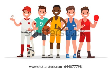 summer sports set of players
