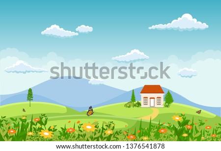 summer spring green valley