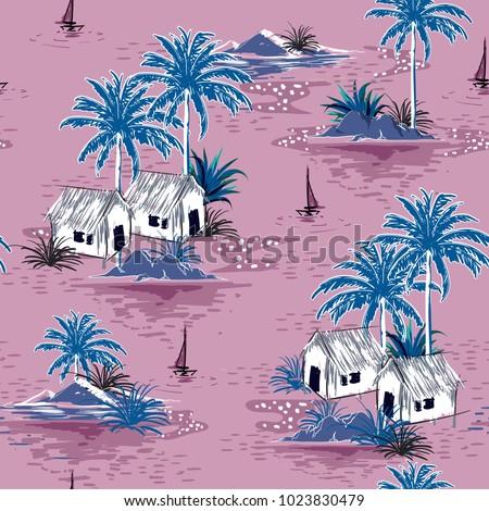 summer stylish seamless  island