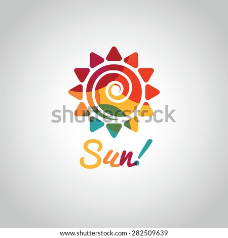 summer sun colorful symbol on