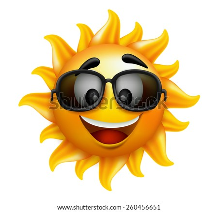 summer sun face with sunglasses