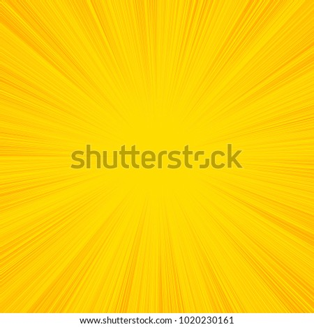 Summer sun rays, sunburst, light rays, sunbeam background abstract yellow. Comic book speed line radial background.