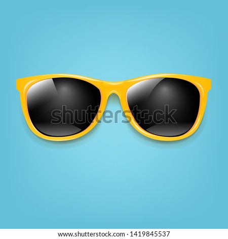 Summer Sunglasses With Mint Poster With Gradient Mesh, Vector Illustration Stockfoto ©