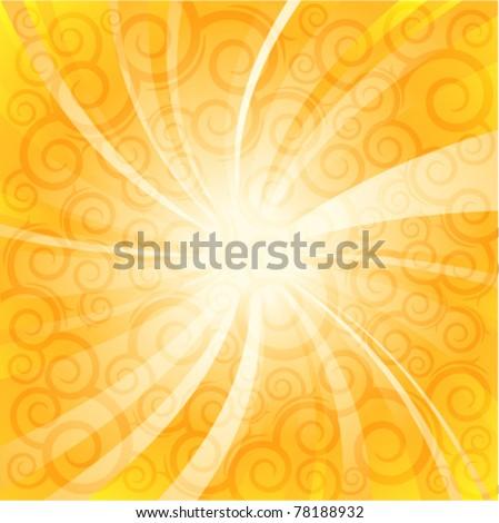 summer sunlight. vector background