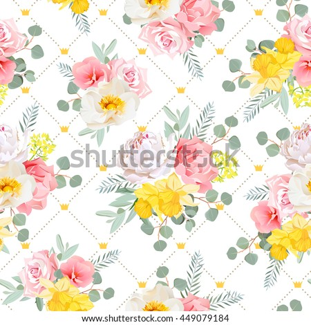 summer sunny floral seamless