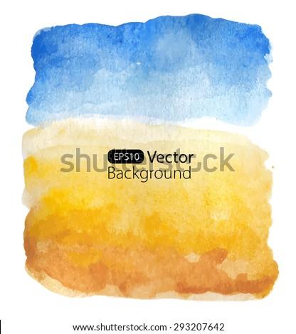 summer sunny landscape vector