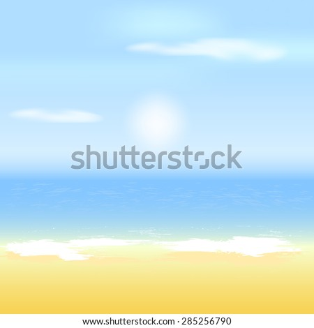 Summer template, beach, sea and sun/design with place for your content #285256790