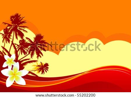 summer themed beach