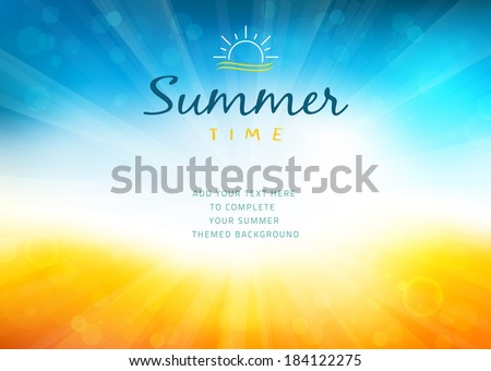 stock-vector-summer-time-background-with-text-illustration-vector-illustration-of-a-glowing-summer-time