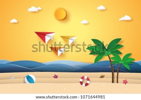 summer time   colorful origami