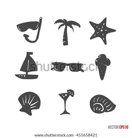 summer time design icons