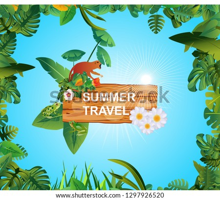 summer time holiday and travel