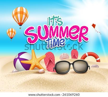 summer time in beach sea shore