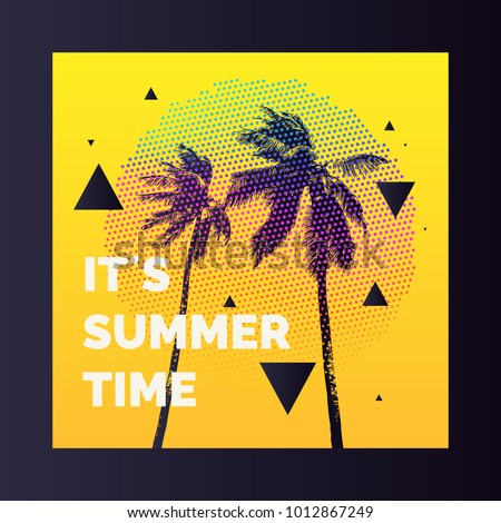 summer time  modern poster with