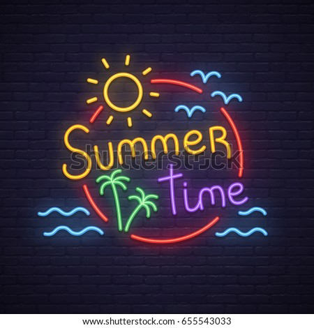 summer time neon sign neon