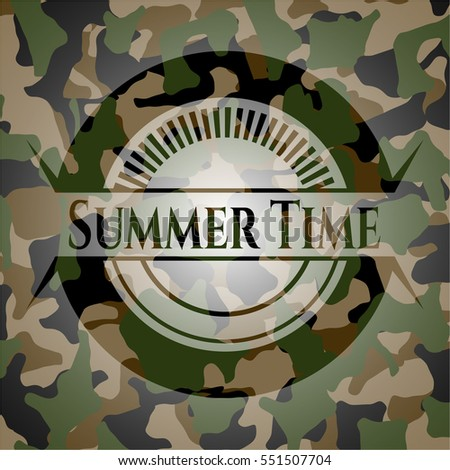 summer time on camo pattern