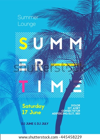 summer time party poster design