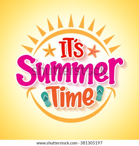 summer time poster design with