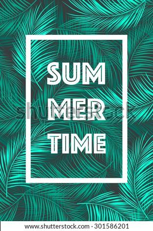 summer time poster  summer mood